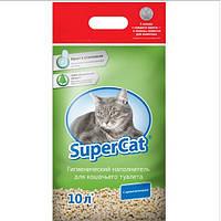Наполнитель SUPER CAT Супер Кет с ароматизатором, 3 кг (зеленый)