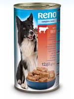 Консервы RENO (Рено, Венгрия) для собак с телятиной, 1240г.