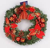 Новогодний венок Аудун 30 см,новогодние украшение
