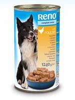 Консервы RENO (Рено, Венгрия) для собак с птицей, 1240г.