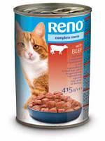 Консервы RENO (Рено, Венгрия) для котов с добавл. говядины, 415г.