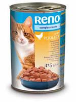 Консервы RENO (Рено, Венгрия) для котов с добавл. птицы, 415г.