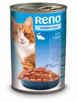 Консервы RENO (Рено, Венгрия) для котов с добавл. рыбы, 415г.