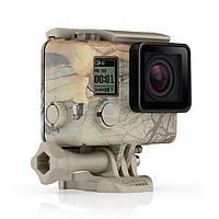"""Водонепроницаемый, сменный, защитный бокс с клипсой, GoPro """"Camo Housing + QuickClip"""" для камеры HERO3, HERO3+, HERO4 Black, HERO4 Silver (AHCSH-001)"""