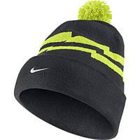 Шапка Nike NSW Loi Pom Beanie 688769-060 Черный с зеленым (666003720644)