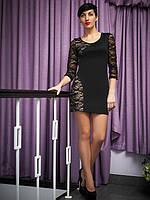 Коктельное платье с гипюровыми вставками, разм.(46-48)