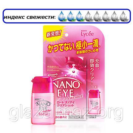Rohto Nano Eye розовые нанокапли, не вытекающие из глаз, для снятия покраснений, фото 2
