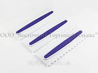 Набор фигурных пластиковых шпателей для боковой поверхности торта