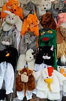 Детские очень красивые Новогодние карнавальные костюмы лесных зверей для девочек и мальчиков 2-6 лет