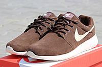 Мужские кроссовки Nike  /  кроссовки  мужские  Найк весна-осень, натуральнный замш, коричневые