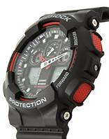 Casio g-shock ga-100 черны/красный реплика, фото 1