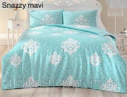 "Комплект постельного белья ALTINBASAK Ранфорс ""Snazzy!"" mavi Евро 50x70"
