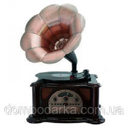 "Граммофон в стиле ретро ""Синатра"", винил, cd диски, флешки, карты памяти, радио"