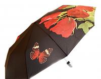 Зонт женский Антишторм автомат Букет роз и бабочка