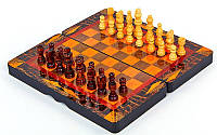 Шахматы, шашки, нарды 3 в 1 МДФ и дерево 30 х 30 см (С)