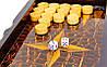 Шахматы, шашки, нарды 3 в 1 МДФ и дерево 30 х 30 см (С), фото 4