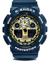 Casio g-shock ga-100 черный/золото реплика, фото 1