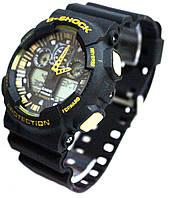 Casio g-shock ga-100 черный/желтый реплика, фото 1