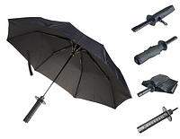 Складной зонт Самурай Mini черный автомат в виде меча