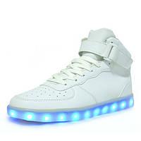 Светящиеся LED кроссовки LEDKED HighTop White