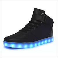 Светящиеся LED кроссовки LEDKED HighTop Black