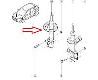 Амортизато передний правый Renault Koleos, Nissan X-Trail 4x4 и 4x2. Оригинал E4302-3UB0B