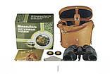 Бинокль армейский с дальномерной сеткой 8х30, военный бинокль, кожаный чехол в комплекте, фото 3