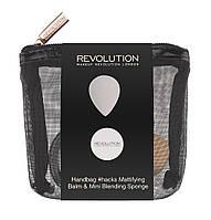 Набор Makeup Revolution Handbag hacks Mattifying Balm and Mini Blender