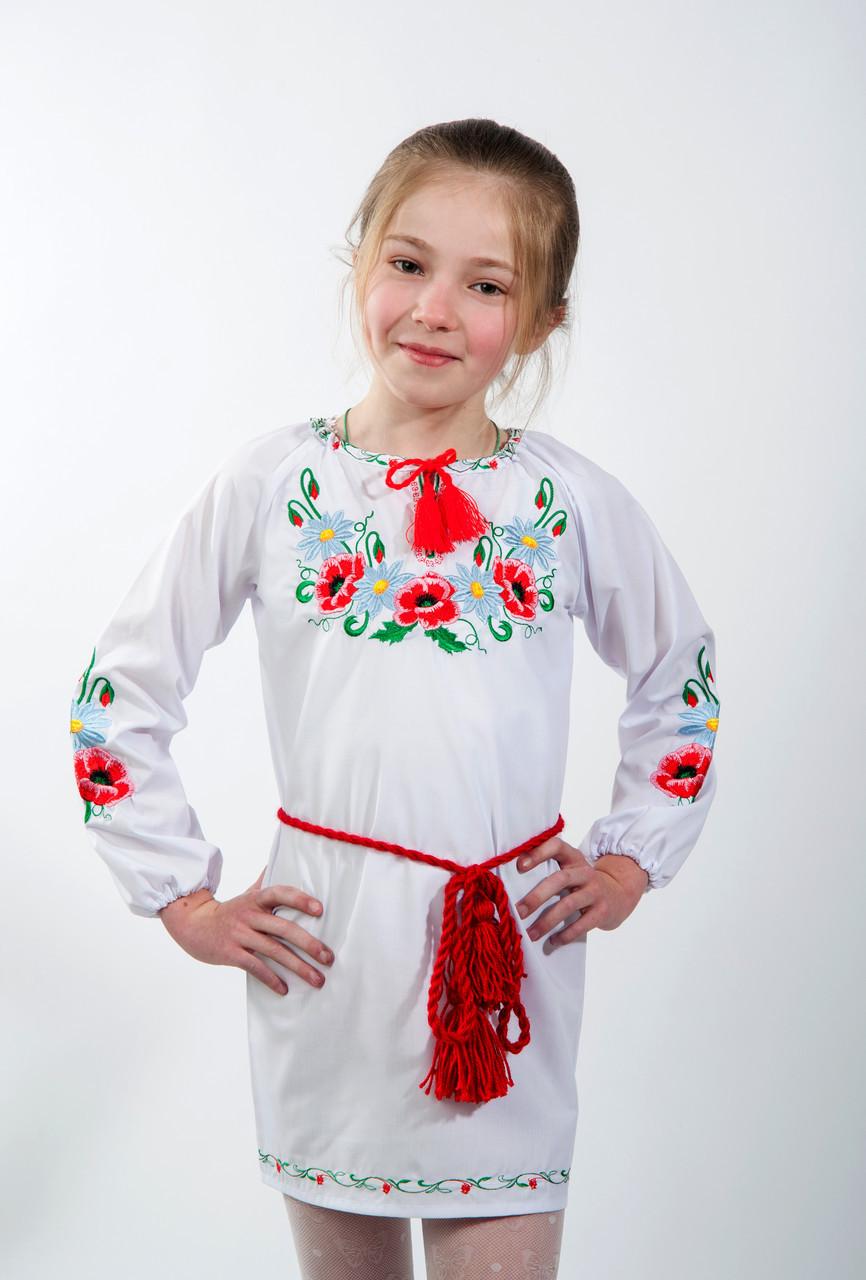 Платье Цветы девочка хлопок