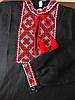 Вышиванка детская для мальчика черный лен, с вышивкой хрестиком, фото 3