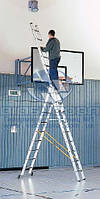 Лестница трехсекционная алюминиевая профессиональная ZARGES Z300 3x9 ступеней (42339)