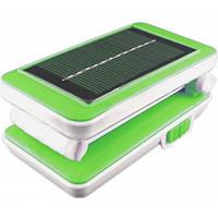 Светильник аккумуляторный/аварийный фонарь Lemanso 5W 192LM 230V салатовая + солнечная батарея / LMF28