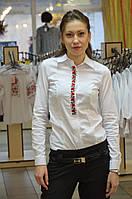Офисная блуза с вышивкой 48