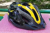 Шлем велосипедный Carbon yellow, фото 1