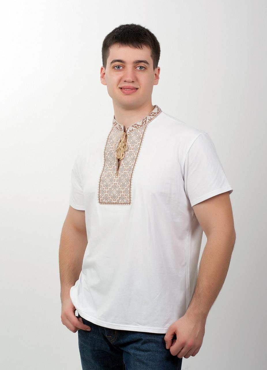 Вышитая футболка мужская