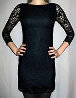 Платье из гипюра черное