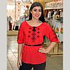 Красная блуза с вышивкой в этно - стиле, фото 2