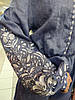 Комбінезон з  вишивкою Дерево життя, льон джинс, фото 4