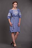 Вишите плаття Твори мир (колір - джинс)
