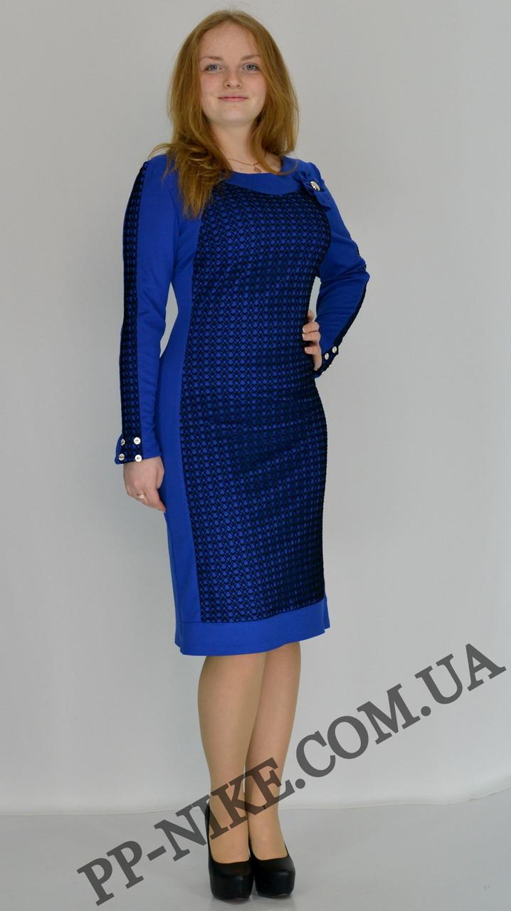 Трикотажное платье №359