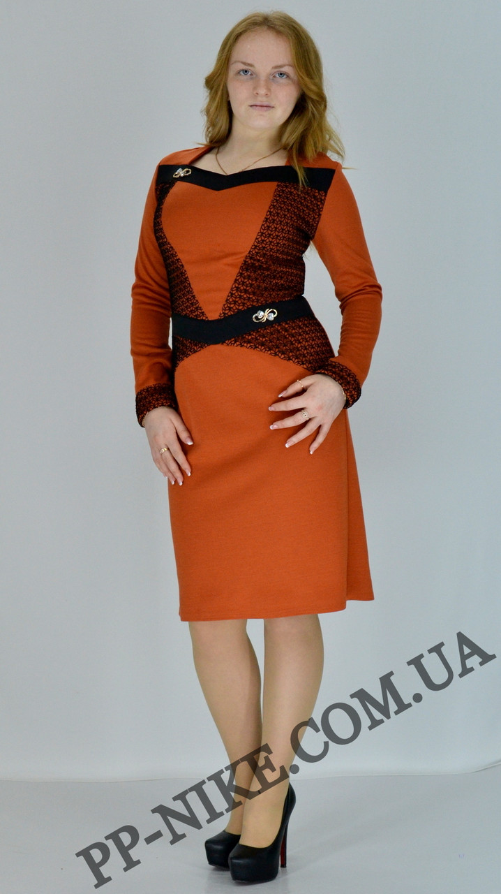 Трикотажное платье №360