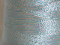 Нитка шелк для машинной вышивки embroidery 120den.меланж №09 3000 ярд