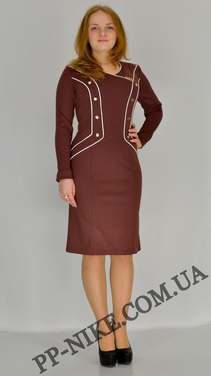 Трикотажное платье №362