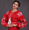Червоне жіноче плаття - вишиванка, фото 4