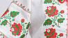 Женская украинская вышиванка Розы с  красно-зеленой вышивкой, фото 2