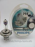 Лампы головной оптики H4 Philips Xtreme Vision. лампа автомобильная