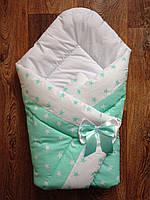 Конверт на выписку ,одеяло из хлопка.Весна Осень.