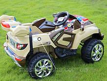 Детский Электромобиль Джип Rage Rover 1428 коричневый, амортизаторы, на радиоуправлении, фото 2