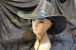 Шляпа Ковбой ковбойская шляпа кожа