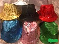 """Шляпа """"Твист"""" с пайетками карнавальная (от 12 шт)"""